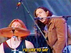"grantcary: """"Outshined- Soundgarden with Eddie Vedder in Bremerton (July "" "" Big Box Braids, Pearl Jam Eddie Vedder, My Darling, A Good Man, Guys, My Love, Pj, Grunge, Walking"