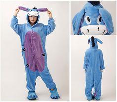2d95d4af52 Cheap Ir al baño Versión Burro unisex adultos franela con capucha pijama de  Cosplay de la
