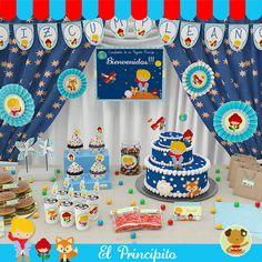 El Principito  -  Kit Decoracion Fiesta Imprimible Prince Birthday Theme, Boy First Birthday, First Birthday Parties, Birthday Party Themes, First Birthdays, The Little Prince Theme, Little Prince Party, Christening Decorations, Storybook Baby Shower