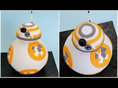 I'm an utter disaster in the kitchen, but if anyone with skills could make this adorable cake and send it my house, I'd be ever so grateful. This tasty droid is made using cake, ganache, … Star Wars Party, Theme Star Wars, Star Wars Cake, Bb8 Star Wars, Cupcakes, Cupcake Cakes, Bb8 Cake, Anniversaire Star Wars, Movie Cakes