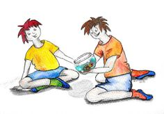 """""""Pez rojo"""" Acuarela. (watercolor) Ilustración para un blog"""