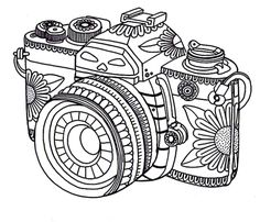 Free-adult-coloring-pages-camera.png (640×550)