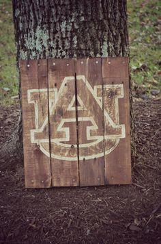 Auburn University Pallet Wood Art Sign by HarveyPalletDesigns