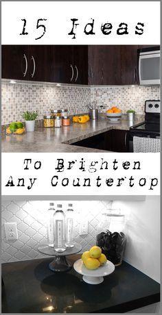 15 Ideas to Brighten Up a Kitchen or Bathroom Counter