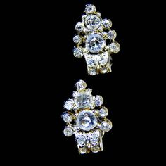 Art Deco Rhinestone Earrings Signed Coro