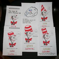 PK-2: Dr. Seuss Cat in the Hat 3-D Shape Book
