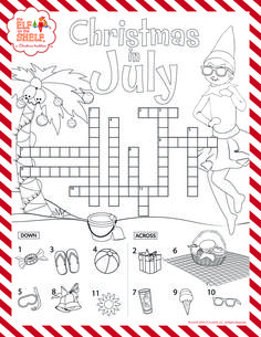 Have Your Kids Test Their Christmas In July Knowledge With This Printable Puzzle