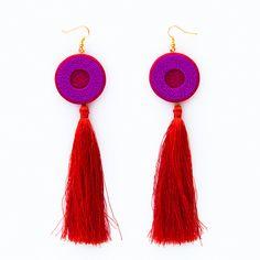 Fashion statement polymer clay modern earrings