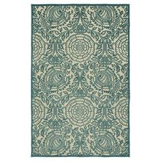 Kaleen FSR102-17 A Breath of Fresh Air Light Blue & Beige Outdoor Rug