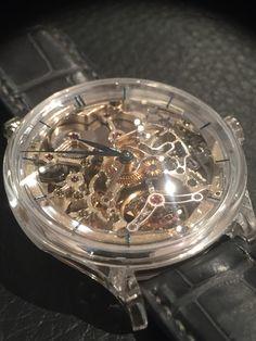 HMoser unique piece s'appuie case , tourbillon skeleton GMT