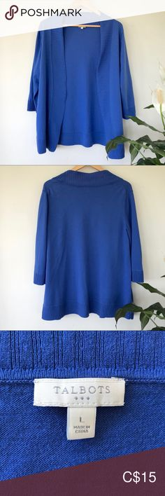 Gently worn look. It's had a tear near the side seam at the hem (see last pic) but has been hand sewn and is not very noticeable. Size L Bust Sleeve length length) Length Talbots Sweaters Cardigans Blue Cardigan, Sweater Cardigan, Plus Fashion, Fashion Tips, Fashion Trends, Hand Sewn, Talbots, Cardigans, Sweaters For Women