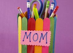 Pen and Pencil Holders – Noodle and Doodle Crafts | Preschool Crafts