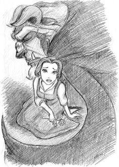 beauty and the beast art   Beauty and the Beast - Leading men of Disney Fan Art (1117796 ...