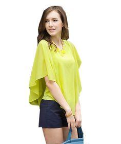Zehui Lady Asymmetric OL Career Casual Batwing Sleeve Chiffon Shirt Tops Blouse Green US8 Zehui,http://www.amazon.com/dp/B00E8CN76K/ref=cm_sw_r_pi_dp_lLFPsb08ZYHFD8BP