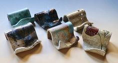 Business Card Holder iPhone Holder Stoneware Clay by LisaMelitaArt, $15.00