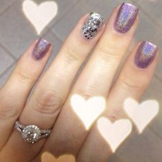 """@selenadee_nails's photo: """"Still obsessed with this mani. This DS is so pretty!!! #nails #nailpolish #opi #dsamethyst #holo #glitter"""""""