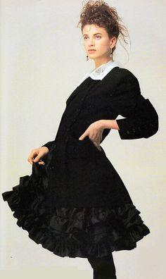 1986 UK Elle September ''Look Sharp About It''. Model Kristen McMenamy