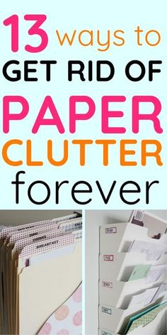 13 Ways to Get Rid of Paper Clutter Forever Drowning in papers? Check out these organization tips to get rid of paper clutter forever! The post 13 Ways to Get Rid of Paper Clutter Forever appeared first on Paper ideas. Organisation Hacks, Office Organization At Work, Organizing Paperwork, Clutter Organization, Bedroom Organization, File Cabinet Organization, Organizing Paper Clutter, Organizing Ideas For Office, Office Ideas