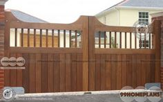 Staggering Useful Ideas: Pool Fence Life wooden fence on slope.Wooden Fence On Slope brick fence gate. Wood Fence Gates, Wooden Fence Posts, Brick Fence, Concrete Fence, Wooden Gates, Stone Fence, Timber Gates, Wooden Fences, Horse Fence