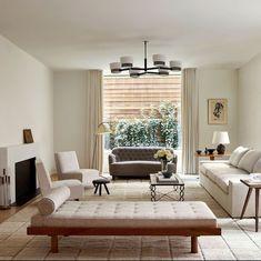 Stylish 36 Charming Living Room Decoration Ideas With Minimalist Sofa To Try Asap Minimalist Sofa, Minimalist Interior, Minimalist House, Minimalist Furniture, Home Design Decor, House Design, Design Ideas, Design Inspiration, Vintage Dining Chairs