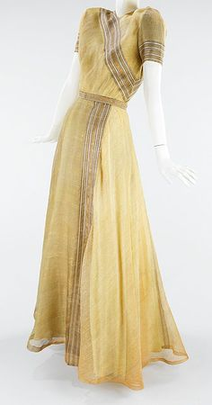 Mainbocher (1890-1976) American. Silk gown, 1947.