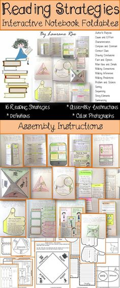 Scaffold the learning of 16 essential reading strategies with this fun and engaging interactive notebook foldable resource. Each reading strategy features a definition or an explanation and is accompanied with assembly instructions and photographs of the finished activity. $