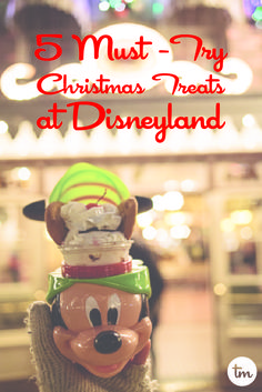 Disneyland is a delicious place during the holidays.   Here are my 5 most favorite Christmas Treats at Disneyland: