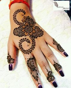 Most beautiful and easy mehndi designs See more ideas about Henna designs easy, Henna designs and Henna. How to Do Henna Design for B. Palm Mehndi Design, Indian Henna Designs, Mehndi Designs For Girls, Modern Mehndi Designs, Mehndi Design Pictures, Beautiful Mehndi Design, Simple Mehndi Designs, Mehndi Designs For Hands, Mehndi Images