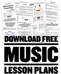 printable PDF music theory worksheets and lesson plans Music Theory Lessons, Music Theory Worksheets, Piano Lessons, Guitar Lessons, Music Theory Pdf, Guitar Tips, Art Lessons, The Plan, Keyboard Lessons