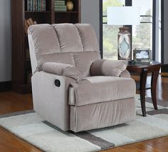 Coaster 601023 Rocker Recliner Taupe New | $539.00 - A possible manchair for the new apartment