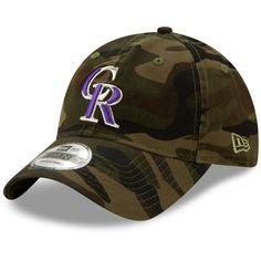 detailed look 8469a e37ee Men s Colorado Rockies New Era Camo Core Classic 9TWENTY Adjustable Hat,  Your Price