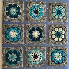 The pattern for this African Flower Square can be found on my blog: