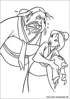 get yelled mulan coloring pages