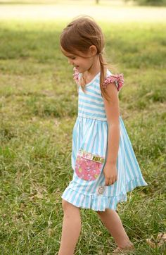 Lottie Dress in Sky (Running generous)