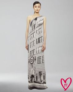 Happy 111th Birthday Bergdorf Goodman but REALLY?  A $5,950.00 photo gown? BG 111th Anniversary Gown by Akris