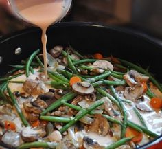 High-Protein Mushroom Stroganoff with a rich, creamy sauce. This is one of my favorite recipes.
