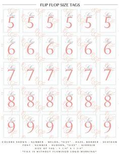 448ecc655 Flip flop tags for Wedding baskets