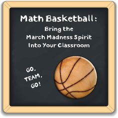 Get ready for some math basketball! Fun activity that can be used in any classroom -- but it works especially well in middle school.