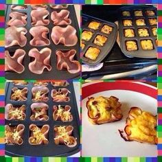 Gluten Free Crust-less Mini Quiches!     Courtesy of Laura Brown Avery at Pampered Chef        NEW BROWNIE PAN IDEA ALERT!! LOVE th...