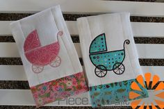Piece N Quilt: Baby Buggy Burp Cloths