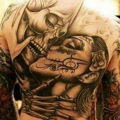 Love love love this tattoo Mother Tattoos For Children, Tattoos For Kids, Nice Tattoos, Thigh Tattoos, Skull Tattoo Design, Tattoo Designs Men, Mens Body Tattoos, Lowrider Tattoo, Tattoo Videos