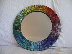Good sized Round MOSAIC MIRROR  Gorgeous por EsthersMosaics en Etsy, $285.00