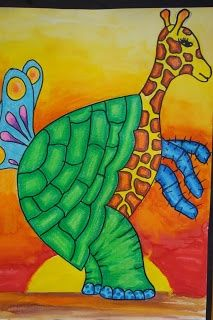 Once upon an Art Room: 'WIld Thing' Animals Art Journal Prompts, Art Journal Techniques, Henri Rousseau, 6th Grade Art, Ecole Art, Art Lessons Elementary, Middle School Art, Arts Ed, Art Lesson Plans