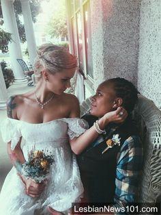 #me #myself #iloveyou #wedding #lesbian #lesbianwedding #i'mgettingmarried #indie #folk #rustic #lgbt #lgbtwedding  www.lesbiannews101.com
