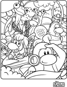 Norman Swarm Coloring Page In Club Penguin