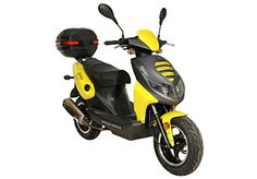 Roller Fighter 25Sport Moped Yellow + TopCase 1.8kW/2.4/Air Cooled/Alloy Wheels/Luggage Carrier/Disc Brake/Hydraulic Telescopic Fork with