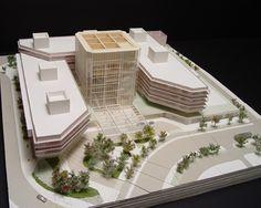 Architectural Model #1 | Perelman Center for Advanced Medicine Concept Architecture, Futuristic Architecture, Architecture Models, Architectural Scale, Architectural Drawings, Hospital Plans, Building Plans, Model Building, Hospital Design