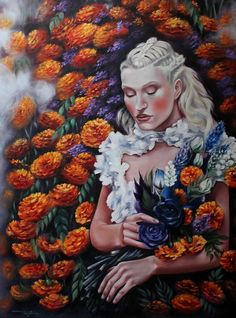 Oil painting by Rebecca Tecla, available in original, prints, bags at: tecla-rebecca.art... , follow me on instagram #rebeccatecla , thx ✌️