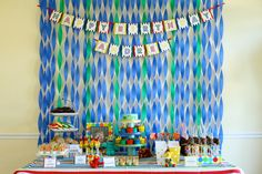 Happy Birthday Banner - ABC 123 Birthday Party Collection - The TomKat Studio. $6.50, via Etsy.