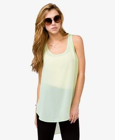 Sleeveless Chiffon Top | FOREVER21 - 2043973554
